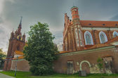 St Anne's and Bernadine's Churches in Vilnius, Lithuania — Stock Photo
