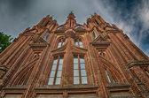 St Anne's s Church in Vilnius, Lithuania — Stock Photo