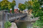 Uzupis and Vilnele River in Vilnius, Lithuania — Stock Photo