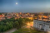 Aerial night panorama of Vilnius — Stockfoto