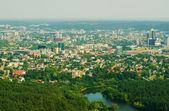 Aerial panorama of Vilnius, Lithuania — Stock Photo