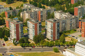 Prefab houses in Karoliniskes, Vilnius, Lithuania — Stock Photo
