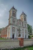 Katholieke kerk in seredzius, litouwen — Stockfoto