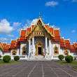 Marble Thai temple with blue sky  — Photo