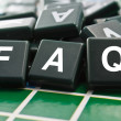 FAQ : Frequently asked questions — 图库照片