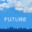 Future text on clouds — Stock Photo