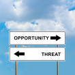Stock Photo: Opportunity and Threat