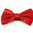 Stock Photo: Red bow tie isolated on white background