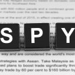 Stock Photo: Spy word