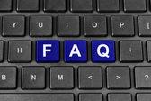 Faq nebo často kladené otázky slovo na klávesnici — Stock fotografie
