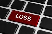 Loss button on keyboard — Foto de Stock