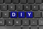 DIY or Do It Yourself word on keyboard — Stock Photo