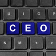 Stock Photo: CEO or chief executive officer word on keyboard