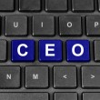 CEO or chief executive officer word on keyboard — Stock fotografie