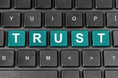 Trust word on keyboard — Stock Photo