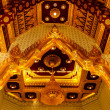 Ceiling Decoration of thai temple — Stock Photo