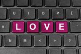 Love word on keyboard — Φωτογραφία Αρχείου