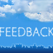 Feedback text on cloud — Stock Photo