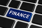 Finance button on keyboard — Stock Photo