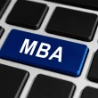 MBA or The Master of Business Administration button on keyboard — Stock Photo #46885577