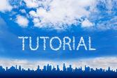 Tutorial text on cloud — Stock fotografie