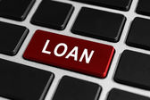 Loan funding button on keyboard — Stock Photo