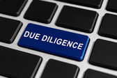Due diligence button on keyboard — Stock Photo