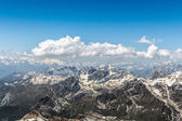 Matterhorn Mountain Range With Blue Sky and Cloudscape  — Stock Photo