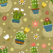 Cactus pattern — Stock Vector