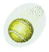ピクセル テニス ボール — ストックベクタ