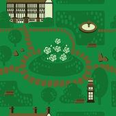 English garden — Stock Vector