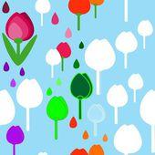 Tulips pattern — Stock Vector