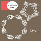 Wedding design lace — ストックベクタ