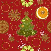 Christmas , New Year's pattern — Stock Vector