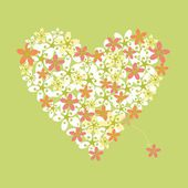 Flower heart — Stock Vector
