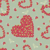 Hearts pattern — Vector de stock
