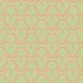 Pattern with stylized hearts — Stock Vector