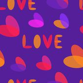 Holiday Valentines day seamless pattern with hearts — Vector de stock