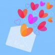 Love letter vector illustrator — Stock Vector