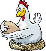 Mother Hen — Stock Vector