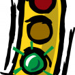 Stock Vector: Stop Light