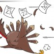 Vector de stock : Running scared Turkey