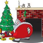 Постер, плакат: Santa Rips Pants