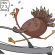 Treadmill Turkey — Stockvectorbeeld