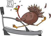Treadmill Turkey — Stock Vector