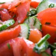 Stock Photo: Fresh vegetable salad from tomatos and cucumbers