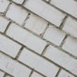 White wall bricks texture — Stock Photo