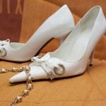 Brides shoes — Stock Photo