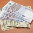 Euro and dollars — Stock Photo #30364887