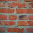 Red bricks wall texture — Stockfoto